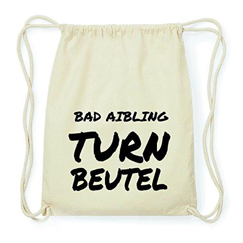 JOllify BAD AIBLING Hipster Turnbeutel Tasche Rucksack aus Baumwolle - Farbe: natur Design: Turnbeutel