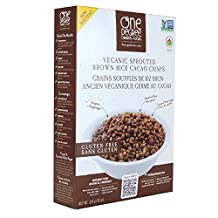 One Degree Organic Foods Veganic Sprouted Cereals-Brown Rice Cacao Crisps