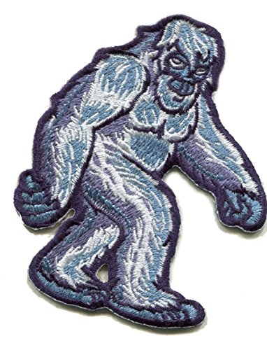 Yeti Abominable Snowman Monster Embroidered Sticker - A Threaded Sticker Similar to a Patch That can be Instantly Applied on Fabric, Plastic, Glass, Wood. Cooler Coats Hats Shirts Sticky-Back-Indoor