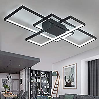 Living Room Lamp Modern Led Ceiling Dimmable Acrylic Lampshade Ceiling Light Chic Square Designer Lamp Dining Room Dining Table Lamp Remote Control Decorative Ceiling Lamp Pendant Light Kitchen Country House Hallway Lights