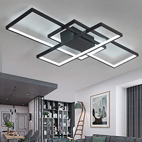 Moderne led-plafondlamp, dimbaar, acryl, lampenkap, plafondlamp, chic, vierkant, designerlamp, eetkamer, eettafellamp…