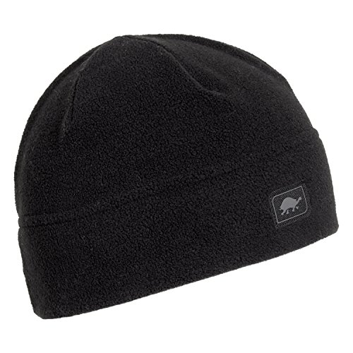 - Turtle Fur Midweight Multi-Season Beanie, Chelonia 150 Fleece Hat, Black