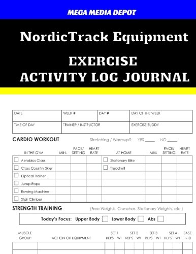 nordictrack-equipment-exercise-activity-log-journal