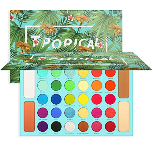 Docolor Eyeshadow Palette, Shimmer Matte 34 Colors Eye Shadow Highly Pigmented Natural Warm Glitter Contour & Highlight…