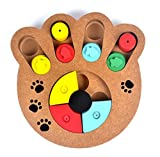 Pet Dog Game Training Wooden Interactive Toy Food Dispensing Puzzle Hide and Seek Review