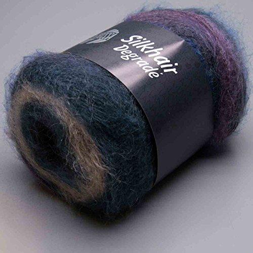 Lana Grossa Silk - Lana Grossa Silkhair Degrade - 0811 Purple Navy Denim