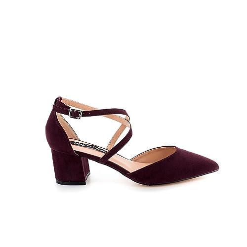 Salon Mustang Color Burdeos Felicity 57582 41 Rojo  Amazon.es  Zapatos y  complementos 4e550a5e067c