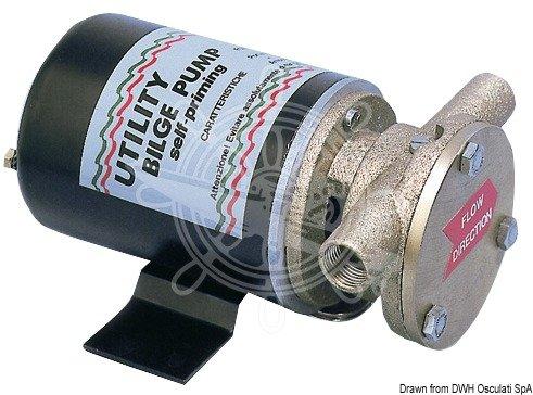 OSCULATI Pompa Deck plastica 12 V