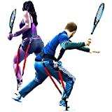 BIG LEAGUE EDGE Velopro Tennis Training Harness | Resistance Swing Trainer Adds 4-7MPH to Serve, Forehand, and Backhand | Improves Groundstroke Mechanics, Top Spin Rates, and Improves Court Speed