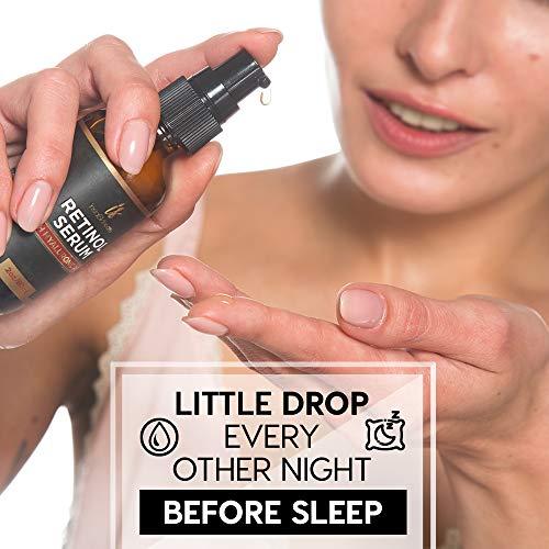51fKn1MNekL - Retinol serum for face (2oz) with Hyaluronic Acid + Vitamin A and E + Aloe Vera Anti aging moisturizer - Fade Dark Spots - Clinical Strength Formula