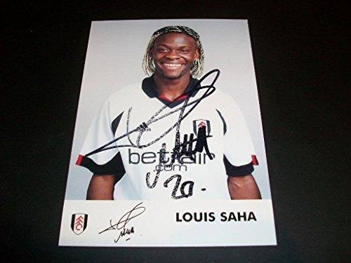 Louis Saha France Manchester United Autograph Signed Vintage 4x6 Photo C