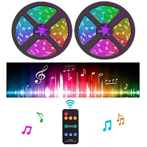 Toogod Led Strip Light Kit,Dream Color Music Lights 32.8ft 300LED DC12V Light with Built-in IC RGB SMD5050 Flexible Strip Lighting for Indoor Home Kitchen Bar