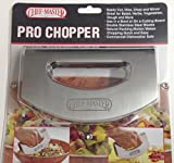 Salad Chopper Mince Dice Slicer Cutter Mezzaluna Double Stainless Steel Blade