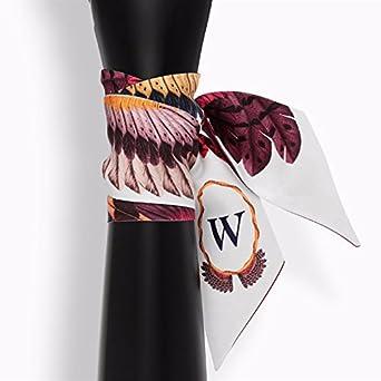 4URNEED 2 Stk Schmaler Krawattenschal Damen Schal Blusen Shirt Krawatten Handtasche Deko Haarschmuck Haarband 96/×6cm