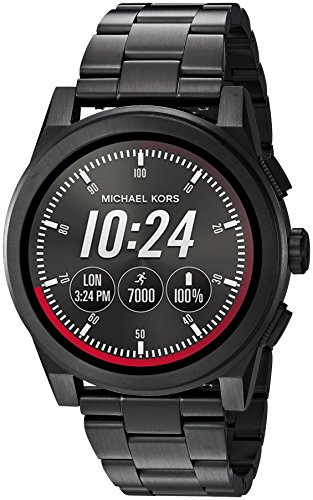 Michael Kors Access, Men's Smartwatch, Grayson Black-Tone Stainless Steel, MKT5029 (Usa Michael Kors)