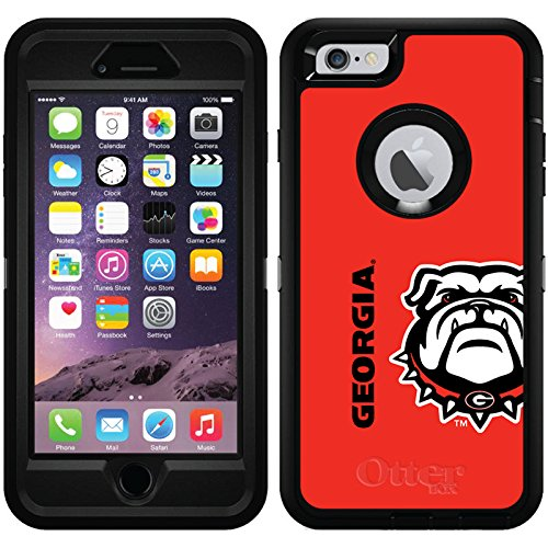 [Georgia Mascot Full design on Black OtterBox Defender Series Case for iPhone 6 Plus and iPhone 6s Plus] (Mascot Design)