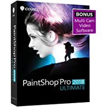 Corel PaintShop Pro 2018 Ultimate Photo with Multi-cam Video Editing Software for PC - Amazon Exclusive