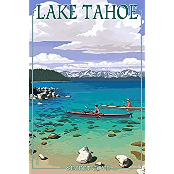 Amazon Com Lake Tahoe California Large Vintage Poster