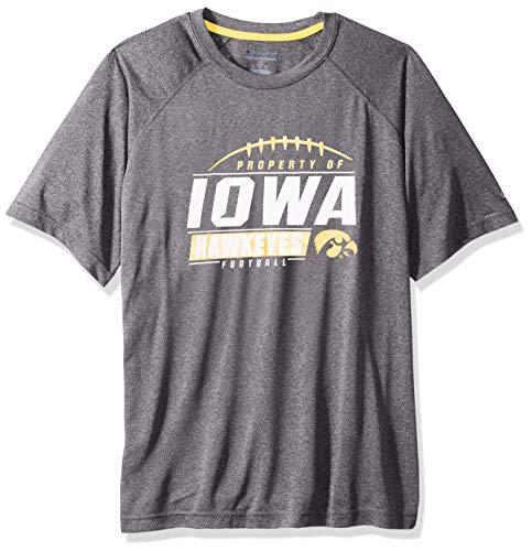 Black Iowa Hawkeyes Football Jersey - NCAA Iowa Hawkeyes Mens NCAA Men's Short Sleeve Football Season Jersey Teechampion NCAA Men's Short Sleeve Football Season Jersey Tee, True Black, XX-Large