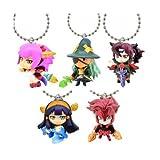 Puzzle & Dragons God Festival 5 Set Mascot and Ball Key Chain Figure Charm PAD