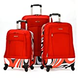 Olympia Luggage Kauai 3 Piece Hybrid Set, Red, One Size, Bags Central