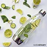 SodaStream 1L Slim Metal Carbonating Bottle, Single