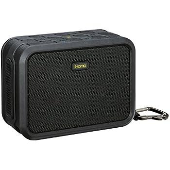 iHome IBN6BEX Rugged Portable Waterproof Bluetooth Stereo Speaker - Black