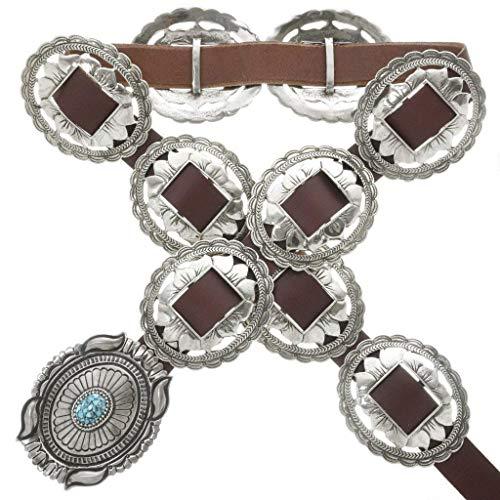 Jim Morrison Concho Belt Turquoise Silver Navajo Pattern 3338