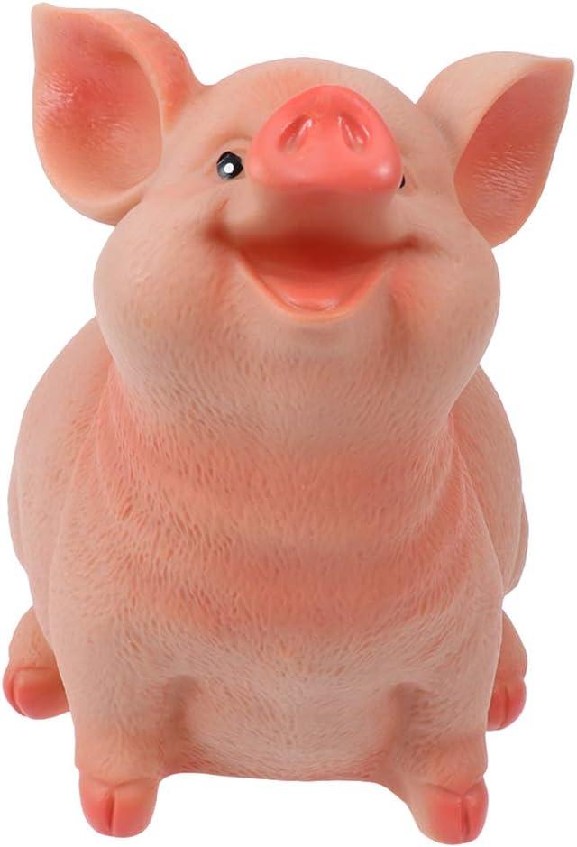 VOSAREA Resin Pig Shaped Coin Bank Money Box Piggy Bank Saving Pot Size S