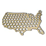 USA Beer Map-Glossy Wood Bottle Cap Holder Crafts Art Wall Decoration For Lover Beer Drinker