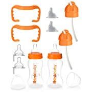 thinkbaby All In One Bottle, Orange/Clear