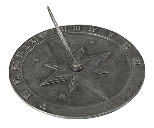 Montague Metal Products Roman Sundial in Antique Swedish Iron Finish, 10.5""