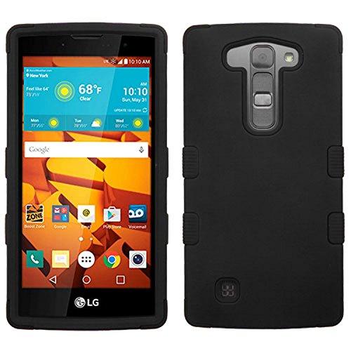 Volt Case - MyBat Hybrid Protector Case for LG LS751 (Volt 2) - Retail Packaging - Black