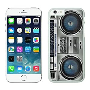 Iphone 6 Plus Case 5.5 Inches, Classic Boombox Designs White Phone Protective Cover Case for Apple Iphone 6 Plus
