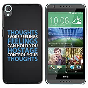 Paccase / SLIM PC / Aliminium Casa Carcasa Funda Case Cover para - BIBLE Thoughts Evoke Feelings - HTC Desire 820