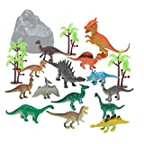 Gbell 13PC/ 14PC Simulated Dinosaurs Model Set, Education Science Dinosaur Playset Toys Birthday...