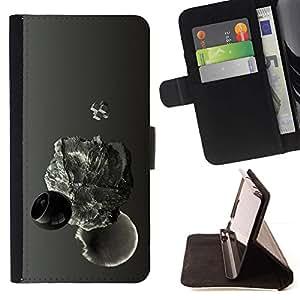 For Apple iPhone 5C Case , Resumen gota- la tarjeta de Crédito Slots PU Funda de cuero Monedero caso cubierta de piel