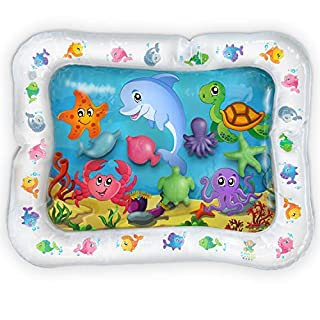 Inflatable Tummy Time Toys- Premium Tummy Time Water Mat Activity Center for Baby Infant Toys and Toddlers, Promotes Visual Stimulation, Movement and Motor Skills. Perfect Smile and Fun Time