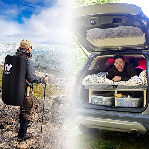 Willpo Memory Foam Camping Mattress 75″x 38″x 2.75″ Portable Comfortable Outdoor Indoor Hiking Backpacking Compact Thick Sleeping Pad Floor Guest Bed Lightweight Car Padding Tent Mattress Travel Bag