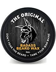 Badass Beard Care Beard Wax For Men - Scent - Softens Beard Hair, Leaves Your Beard Looking And Feeling More Dense 2 oz The original