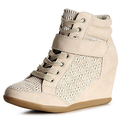 topschuhe24 topschuhe24 Cuneo Scarpe Beige Donna Sneaker wwzABxvOHq