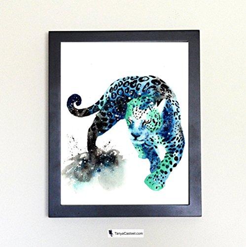 Jaguar Spirit Animal Art Print from Watercolor Painting