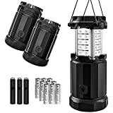 LED Camping Lantern - Etekcity LED Lantern Camping Magnetic Lights Dimmer Button Brightness Control with Batteries, Camping Gear for Hiking, Power Outage, Fishing, Storm (Collapsible, Upgraded CL30) (3Pack)