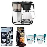 Bonavita BV1901GW 8-cup Coffee Brewer + Grand Aroma Coffee, Knox Mugs + Descaler