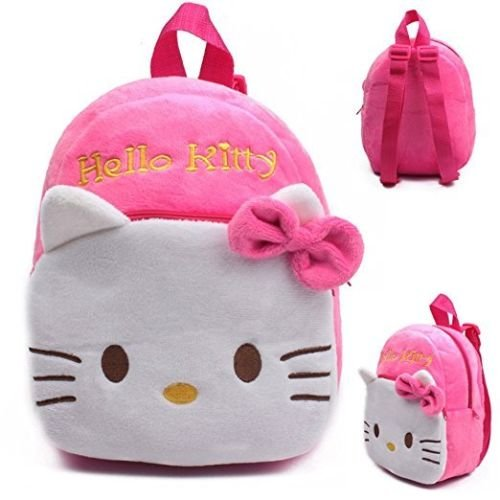 Backpack Schoolbag - Pink Design Animal Cartoon Mini Backpack Schoolbag Shoulder Bag Suitable For Babies and Children - Perfect Birthday Gifts - For Kids (Hello Kitty White)