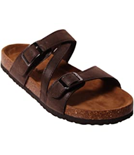 bb303642e8d9 OUTWOODS Bork-56 Women s Strappy Buckle Slide Sandals