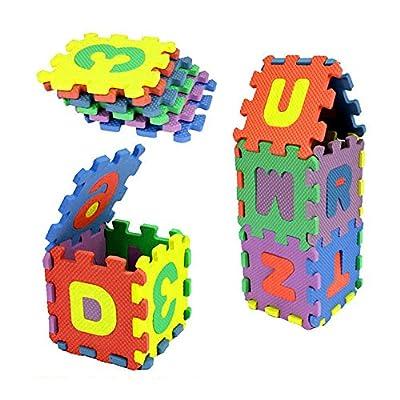 QUNANEN 36Pcs Baby Child Number Alphabet Puzzle Foam Maths Educational Toy Gift (36Pcs): Toys & Games