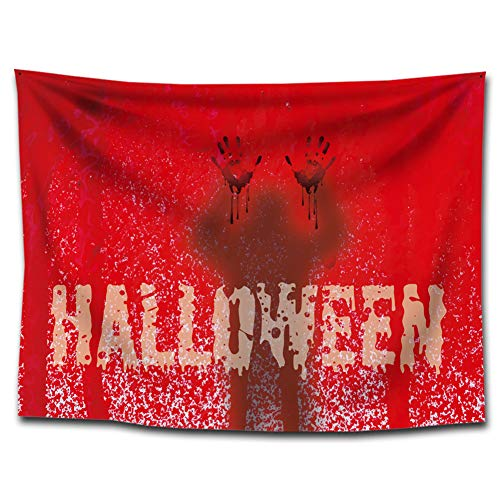 (Halloween Theme Cloth Backdrop Decoration Background Cloth for Halloween Party Decorations Studio Photo Prop Bar Wall Red)