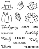 Karen Foster Design, Clear Stamp Set, Thanksgiving