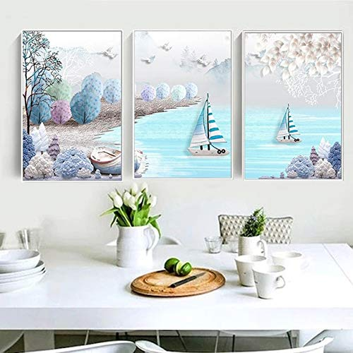 Zamtac NEW Triplex 5D DIY Full square Diamond Painting Mosaic Landscape painting Rhinestone Embroidery Cross Stitch home decor - (Color: A, Size: 300X120)